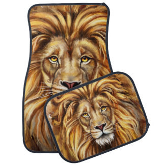 Artistic Lion Face Car Mat Full Set