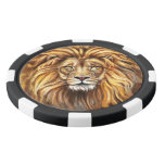 Artistic Lion Face Clay Poker Chips