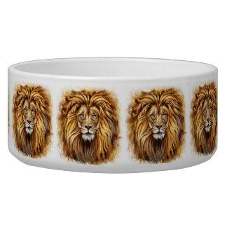 Artistic Lion Face Large Pet Bowl