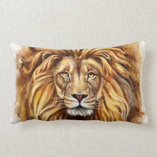Artistic Lion Face Lumbar Pillow