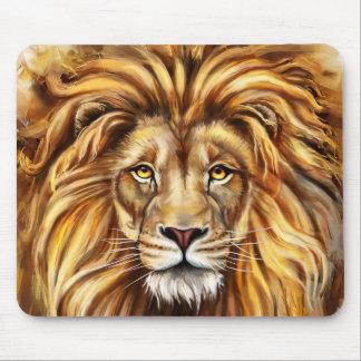 Artistic Lion Face Mouse Pad