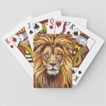 Artistic Lion Face Playing Cards
