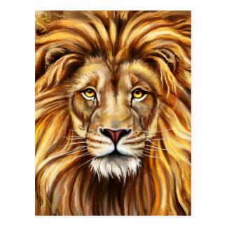 Artistic Lion Face Postcard