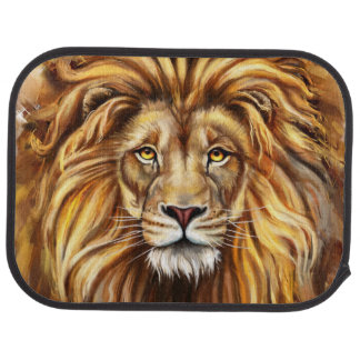 Artistic Lion Face Rear Car Mat