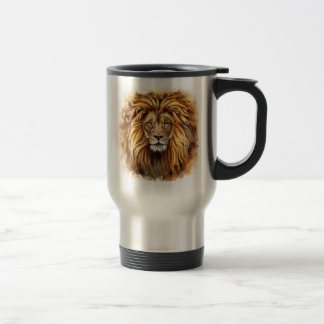 Artistic Lion Face Travel Mug