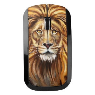 Artistic Lion Face Wireless Mouse