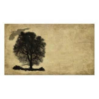 Artistic- Lone Stark Tree & Crow Business Card