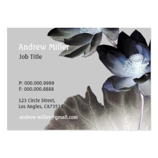 Artistic Lotus Blossoms Business Card Templates