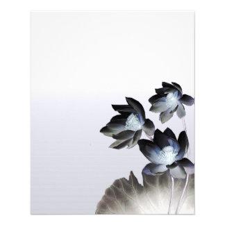 Artistic Lotus Blossoms Business Custom Flyer
