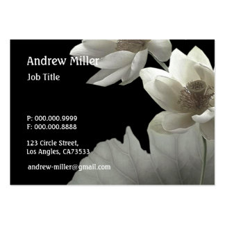 Artistic Lotus Blossoms Large Business Card