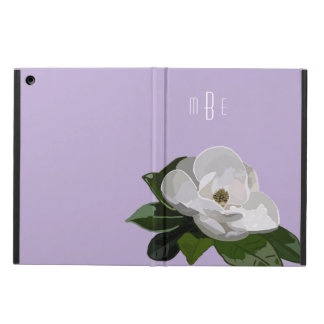 Artistic Magnolia Flower on Purple iPad Air Case