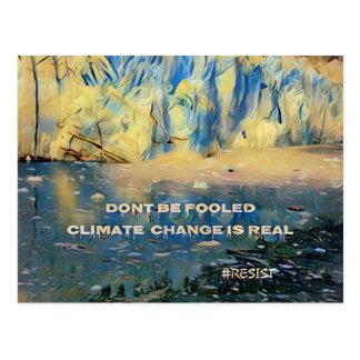 Artistic Melting Glacier 'Climate Change Is Real' Postcard