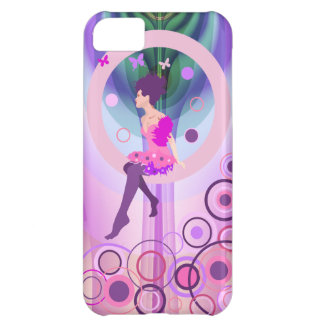 Artistic mixed media fantasy case with cute Girl Case For iPhone 5C