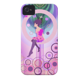 Artistic mixed media fantasy case with cute Girl iPhone 4 Case-Mate Cases