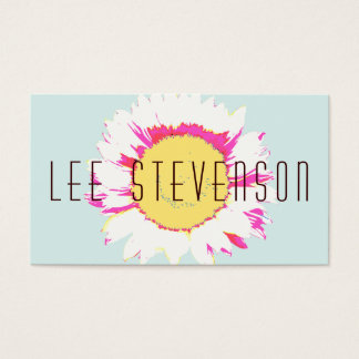 Artistic Modern and Colorful Floral Business Card