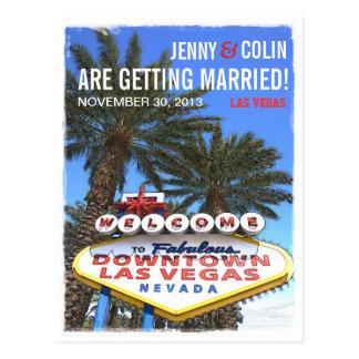 Artistic Modern Las Vegas Photo Save The Date Postcards