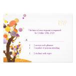 Artistic, Modern Trees Fall Wedding RSVP (3.5x5) Invites