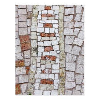 artistic mosaic postcard