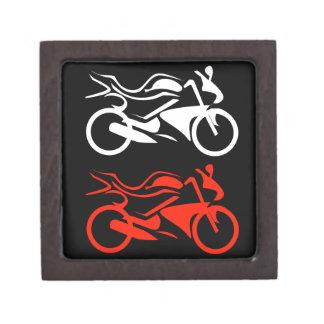 Artistic motorbike graphic keepsake box