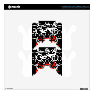 Artistic motorbike graphic PS3 controller decals