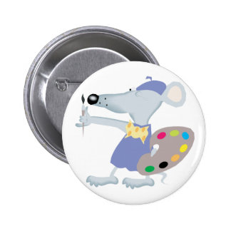 Artistic Mouse 2 Inch Round Button