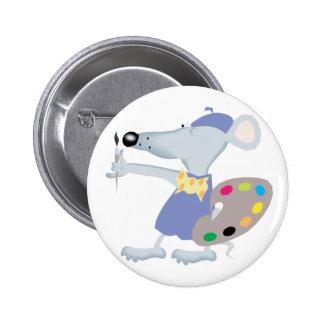 Artistic Mouse Pinback Button