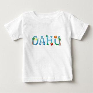 Artistic Oahu Hawaii word art baby tshirt