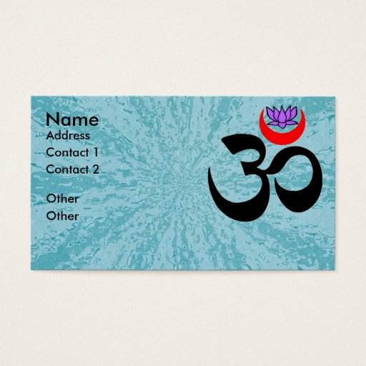 Artistic Om - Yoga Business Card