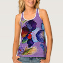 Artistic Orchid Design Tank Top