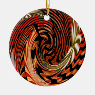 Artistic Double-Sided Ceramic Round Christmas Ornament