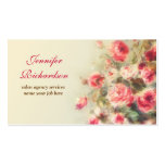 artistic painted flowers business cards