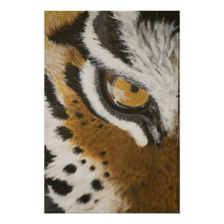 Artistic painted tiger s eye design poster