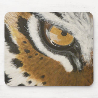 Artistic painted tiger's eye design mouse pad