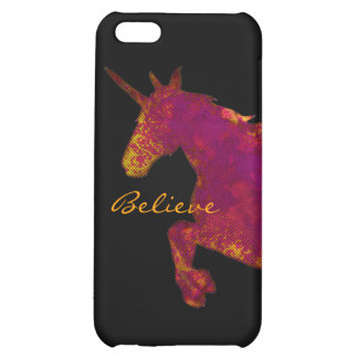 Artistic Painted Unicorn With Believe Text iPhone 5C Cover