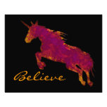 Artistic Painted Unicorn With Believe Text Art Photo