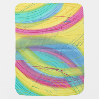 Artistic Painterly Pastels Abstract Baby Blankets