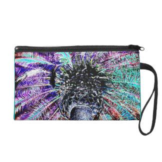 Artistic Palm Tree Photo Bagettes Wristlet Bag
