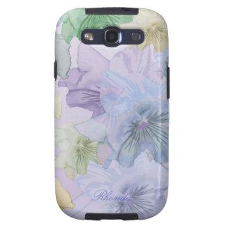 Artistic Pastel Flowers Samsung Galaxy Case Galaxy SIII Covers