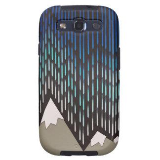 Artistic Pattern Blue Rainy Shaped Mountains Print Galaxy S3 Case