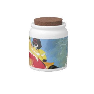 Artistic Pattern Candy Jar
