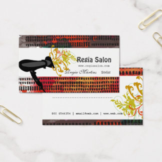 Artistic Pattern Salon Appointment Hair Stylist Business Card