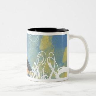 Artistic Pattern Two-Tone Coffee Mug