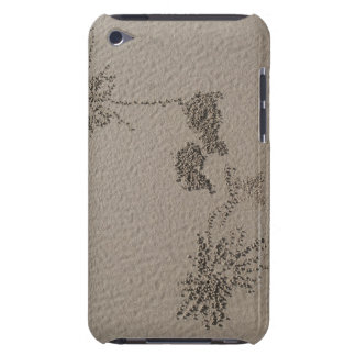 Artistic patterns made by Ghost Crabs  on Four Barely There iPod Case