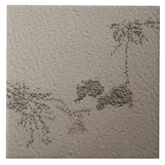 Artistic patterns made by Ghost Crabs  on Four Ceramic Tile