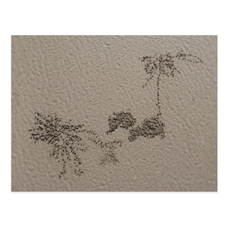 Artistic patterns made by Ghost Crabs  on Four Post Cards