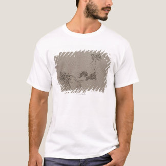 Artistic patterns made by Ghost Crabs  on Four T-Shirt