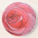 Artistic Peace Rose Sandstone Coaster