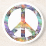 Artistic Peace Sign Drink Coaster