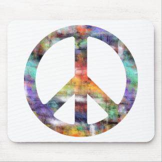 Artistic Peace Sign Mouse Pad