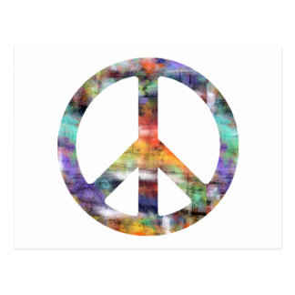 Artistic Peace Sign Postcard